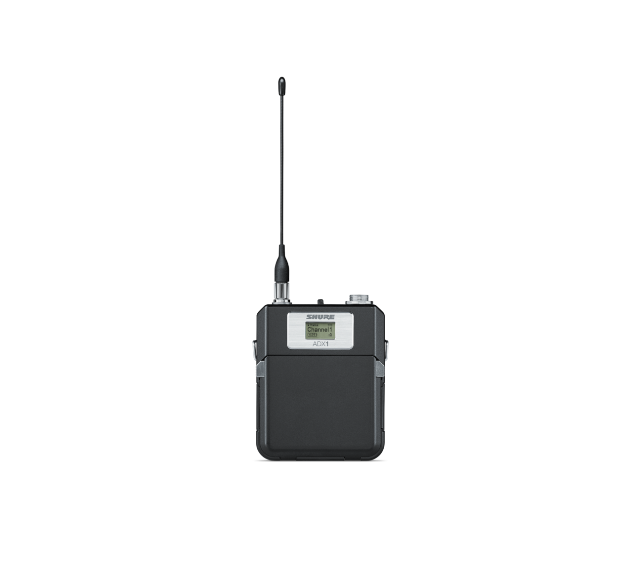 SHURE ADX1 - מסדרת AXIENT DIGITAL - משדר גוף איכותי ביותר . ADX BODYPACK TRANSMITTER W/TA4F CONNECTOR